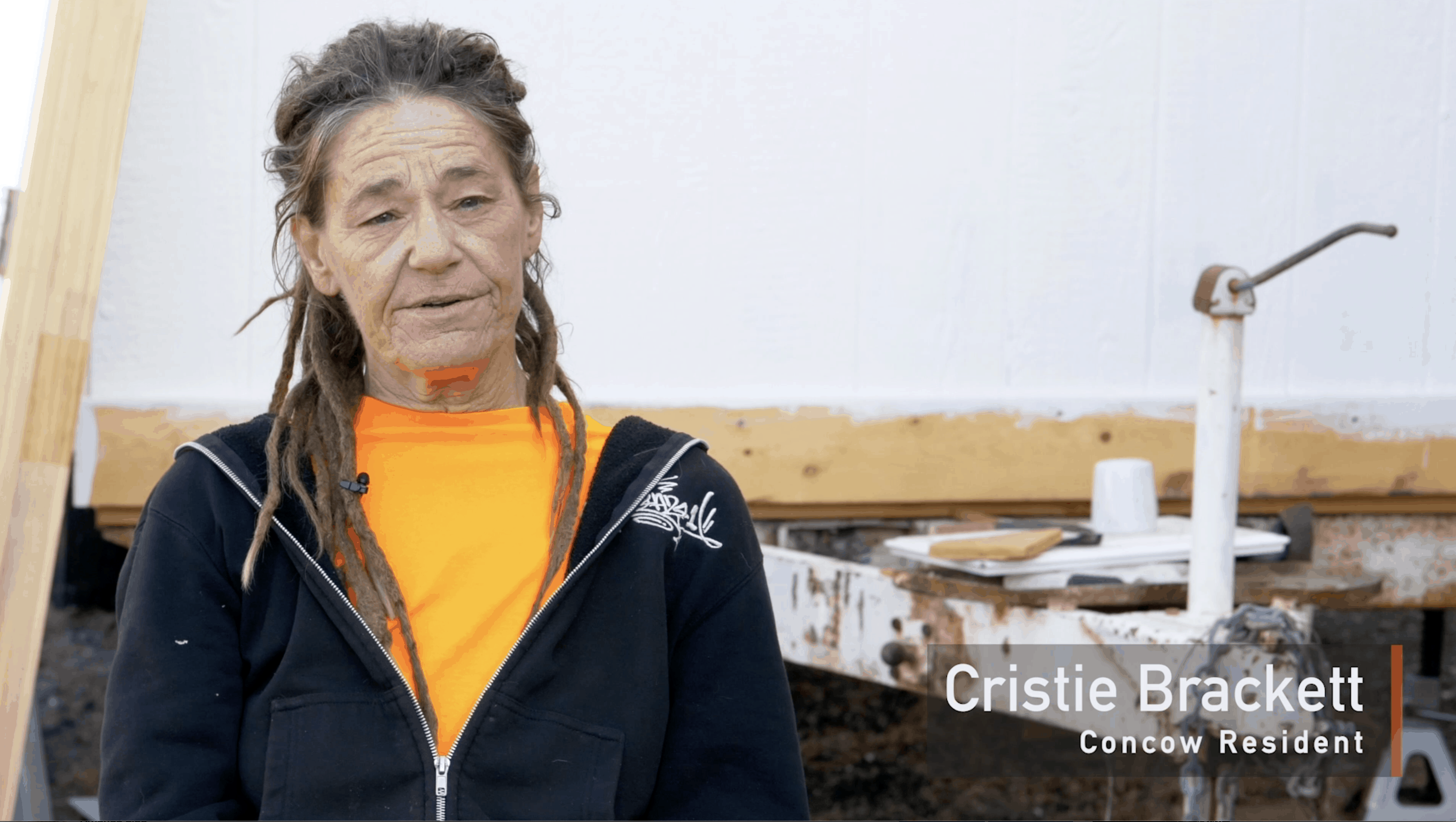 Cristie Brakett, Concow Resident from the 'Tiny Homes for Camp Fire Survivors' project